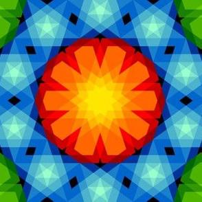 decagon rose : rainbow