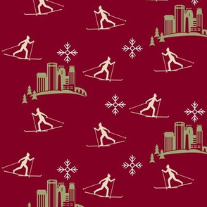 Minneapolis Skier, dark red