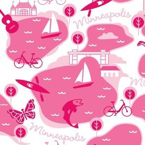 Minneapolis Summer, magenta
