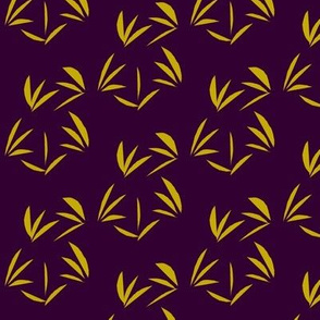 Antique Gold Tussocks on Deep Purple