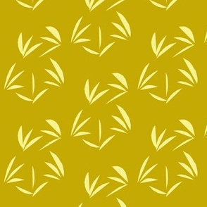 Buttery Yellow OrientalTussocks on Antique Gold