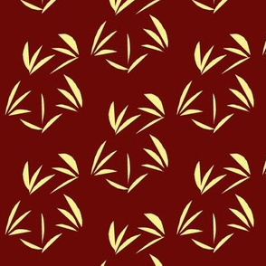 Buttery Yellow OrientalTussocks on Garnet