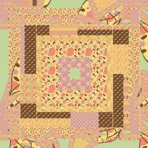 Peach Quilt Block 8