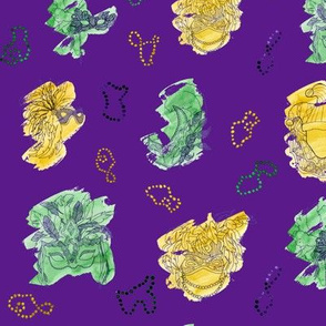 Purple Mardi Gras Large Pattern