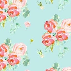 Soft Roses - Blue
