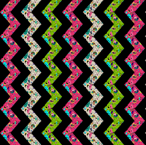 Paisley Chevron on Black