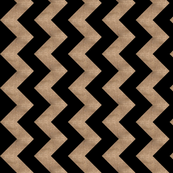 Black Chevron + Burlap