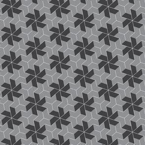 gray pinwheels and stars