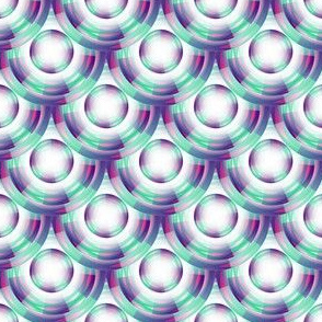 Vintage Abstract - Pink, Green & Purple