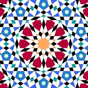 decagon star : tiled fish pond