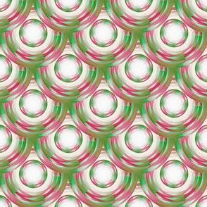 Vintage Abstract  - Pink & Green