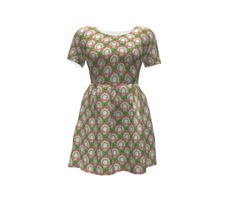 Vintage Abstract  - Pink, Green, Off-White