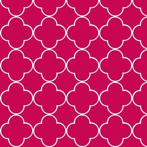 quatrefoil 2 Medium -  berry