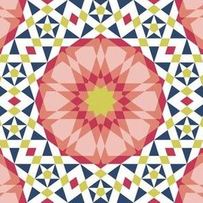 decagon rose : matisse palette mosaic