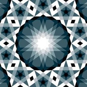 decagon rose : dramatic noir mosaic
