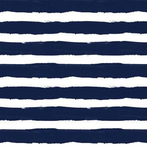 Navy Thick Stripe