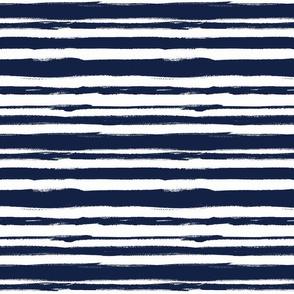 Navy brush Stripe 2