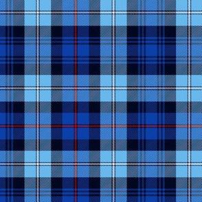 Mackenzie tartan, blue variant