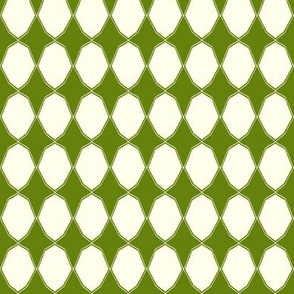 Decagons in green and white