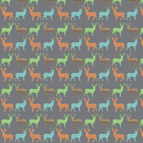 Meadow Deer in Multi with Gray