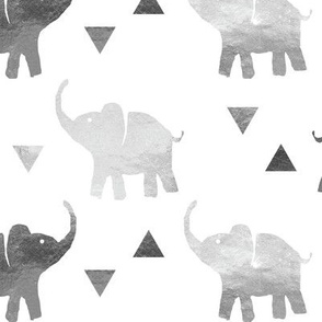 Elephants & Triangles - Silver