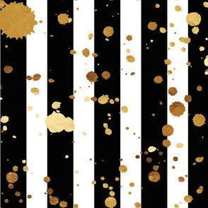 Stripes & Splatter - Gold