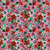 Raspberry Floral Fiesta