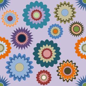 April in the Garden - Flowers 2 on Purple