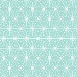 Radiant Triangles Bamboo Coordinate green blue and white