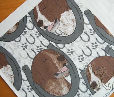 German shorthaired Pointer horseshoe portraits