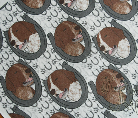 German shorthaired Pointer horseshoe portraits - small