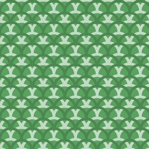 Mermaid Scales//Overlapping Waves (green variant