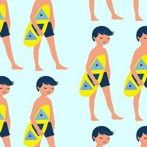 Summer Time Boy - Beach Print Blue
