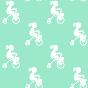 Girl_on_Trike_White_and_Mint