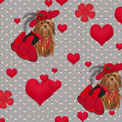 Yorkie - Red Victorian Sweetheart