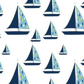 Summer Nautical Sailboat