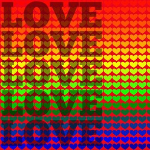 Rainbow Love - Red