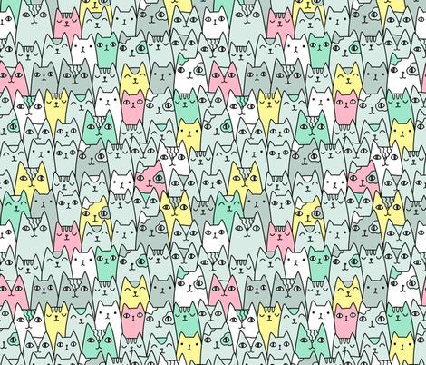 Bright cats pattern MEDIUM scale