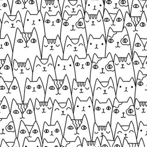Doodle cats pattern SMALL scale