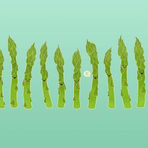 Asparagus say hi!
