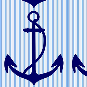 anchor with stripes