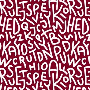 Garnet Letters Hand-Drawn Typography Alphabet