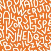 Orange Letters Hand-Drawn Typography Alphabet
