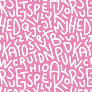 Pink Letters Hand-Drawn Typography Alphabet