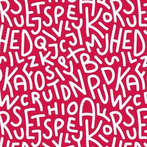 Red Letters Hand-Drawn Typography Alphabet