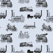 """Antique Steam Engines - Steel Grey - Small (2"""")"""