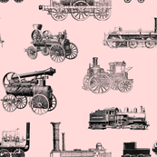 "Antique Steam Engines - Red - Large (3.5"")"
