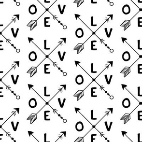 Cupid love romantic indian summer arrows valentine design gender neutral black and white