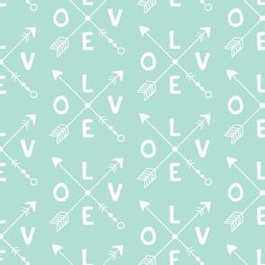 Cupid love romantic indian summer arrows valentine design gender neutral mint