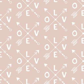 Cupid love romantic indian summer arrows valentine design gender neutral beige